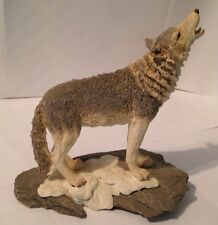 "Wolf / Wolves Figurine - Resin - Beautiful Life Like - 6 3/4"" High - Base 6X4"""