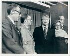 1976 President Jimmy Carter With His Cabinet H Brown R Marshal Press Photo