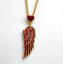 Butler and Wilson Crystal Winged Heart Necklace Small