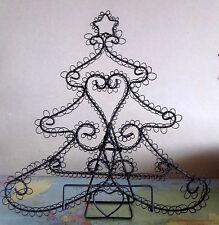 Weihnachtlicher Notenständer, Bilderhalter, Blatthalter aus Metall, Tannenform