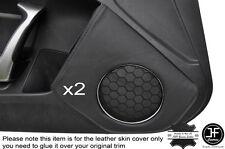 BLACK STICH 2X DOOR SPEAKER TRIM LEATHER COVER FOR TOYOTA GT86 SUBARU BRZ 12-16