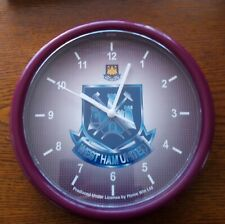 More details for official west ham united crest wall clock - free postage!
