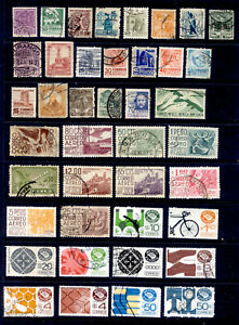 MEXICO 64 Different Stamps Lot Used