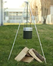Mil-Tec Dreifuß für Schwenkkessel mit Kette und Haken Grillgestell Dreibein