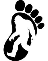 Bigfoot, Sasquatch, Footprint Decal