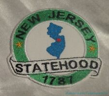 Embroidered New Jersey State Pride Statehood NJ Souvenir Patch Iron On Sew USA