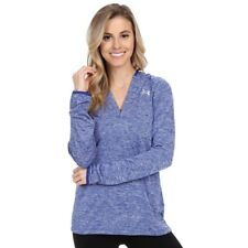 Under Armour Team Qualifier 1//4 Zip Womens  Pullover Royal Blue 1273921-400 NEW