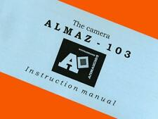ENGLISH MANUAL for ALMAZ-103 camera LOMO SLR USSR Pentax-K INSTRUCTION BOOKLET