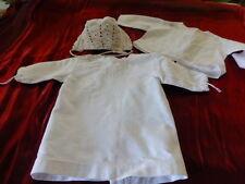 raynal coli n  bella  s-f-b-j brassiére-manteau piqué brodée+bonnet +chemise