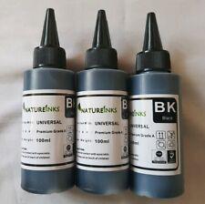 100ml Natureinks Printer Refill Black Ink dye Bottle for Refillable, 3 Bottles