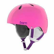 Bern Diabla Team Girls Youth Snowboard Ski Bike Helmet Pink Large 55.5-57cm