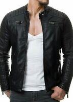 Leather  Vintage Classic Jacket Biker Slim Fit Mens Black Leather Jacket