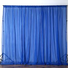 Royal Blue 10 x 10 ft Voile BACKDROP CURTAINS Wedding Home Party Decorations