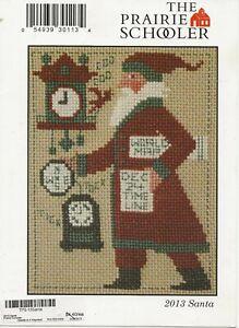 Prairie Schooler 2013 Santa cross stitch chart