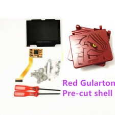 Red Gularton Pre-Cut Shell Cover w/ 5 Levels Brightness IPS LCD Mod FOR GBA SP
