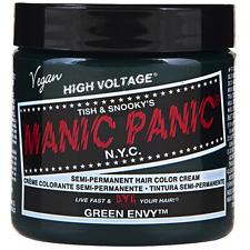 Manic Panic Semi-Permanent Hair Color Cream, Green Envy 4 oz