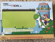 New Nintendo 3DS XL Special Edition Lime Green Super Mario World Pre-Installed!!