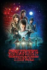 STRANGER THINGS ~ STYLE 'A' CAST ~ 24x36 NETFLIX TV POSTER ~ NEW/ROLLED!