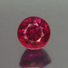 0.35CT CHARMIMG VVS UNHEATED 3.7MM ROUND RED RUBY NATURAL