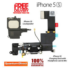 *NEW* BLACK Replacement Charging Dock/Port Assembly + Loudspeaker FOR iPhone 5S