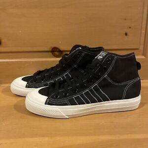 Adidas Men's Nizza HI RF F34057 Black and White Shoes Size 8.5