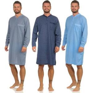 Men's Nightshirt Long Sleeve Sleepshirt Nightwear Size M L XL 2XL, 1836