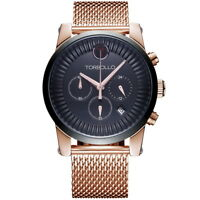 Men's Chronograph Date Quartz Wrist Watch Stainless Steel Mesh Band Sports Dial