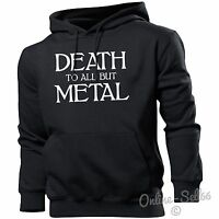 Death To All But Metal Funny Hoodie Music Mens Gothic Womens Hoody  Top Heavy
