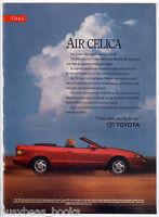 1991 TOYOTA CELICA advertisement, Toyota Celica GT convertible