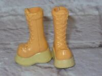 Mattel Barbie Doll MY SCENE SHOES ~ MY LOOK PEACHY BEIGE BOOTS ~ Barbie Shoes