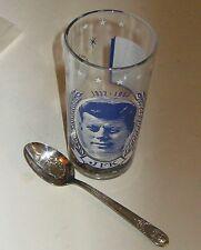 JOHN F KENNEDY GLASS souvenir & SPOON space FRIENDSHIP 7 capsule module GLENN