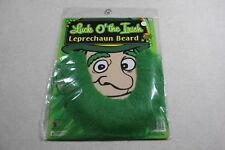 St Patrick's Day Green Self Adhesive Leprechaun Beard Factory Sealed Brand New