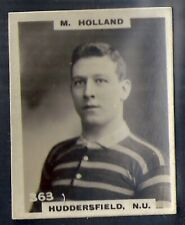 PINNACE FOOTBALL-BLACK OVAL BACK-#0363- RUGBY - HUDDERSFIELD. NU - M. HOLLAND