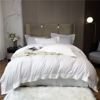 Luxury Duvet Cover Bed Sheet Set Egyptian Cotton Quality Silky 4Pcs Bedding Set
