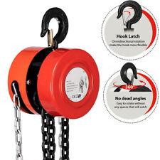 1235 Ton 10ft Manual Hand Chain Puller Block Hoist With 2 Hooks Ratchet Type