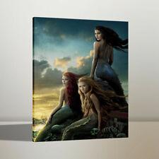 Home Wall Decor Art Oil Painting Three Beautiful Mermaids Canvas Print 24x32