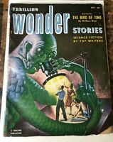 THRILLING WONDER STORIES  PULP OCT 1952 GOLDEN AGE of SCIENCE FICTION