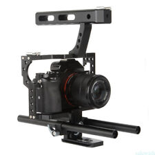 JinTu Portable Camera Video Stabilizer Cage Rig + Top Handle Grip for Sony DSLR
