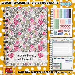 Food Diary WEIGHT WATCHERS Points Journal Planner Book Diets  WW11 Easy Worth It