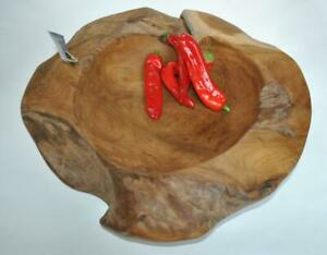 Teak Holz Schale 50cm Durchmesser!!! poliert ,aus altem Wurzelholz,%% 2.Wahl %%