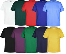 Unisex Crew Neck Round Neck T-Shirt P.E Sports School Uniform Casual 100% Cotton