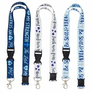 Juvale Religious ID Badge Holder, Hall Pass Lanyards (6 Pack), 3 Designs