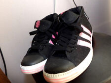 Women's Adidas Black Pink w Denim Ankle Top Tennis Shoes Size 8