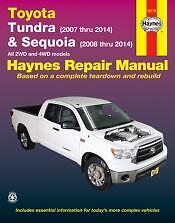 Tundra and Sequoia 2007 thru 2014 and Sequoia (2008 thru 2014) Haynes Manual