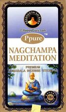 """MEDITATION"" PPURE NAG CHAMPA NATURAL MASALA INCENSE STICKS (12x15g) 180g"