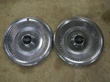 "1969 Buick Riviera Hub Caps Set 2 (Two) ""R"" Emblem Centers 15"" R Script Logo 69"