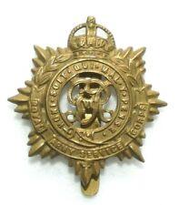Original WWII British Cap Badge-Royal Army Service Corps KC, GR VI