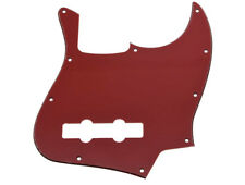 * NEW Red/Black/Red PICKGUARD for Fender Jazz Bass 3 Ply Standard 10 Hole
