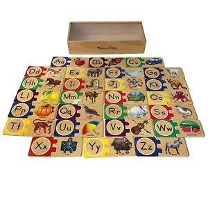 Melissa & Doug ABCs Alphabet Self Correcting Letter Puzzles in Box