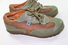 Mens John Fluevog JF 6.5 M Green Brown Leather Sneakers Walking Shoe A041
